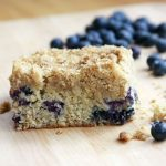 Crockpot Blueberry Coffee Cake with Vanilla