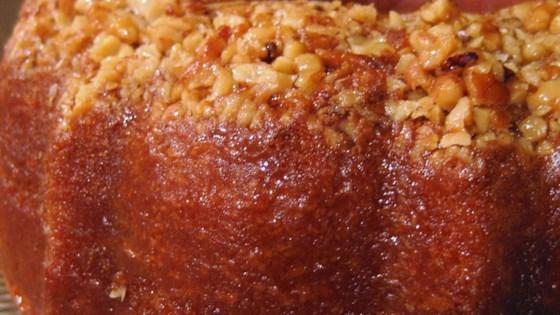 Amazing Golden Rum Cake Recipe