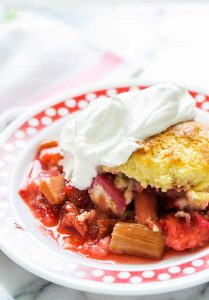 Easy Strawberry Rhubarb Cobbler