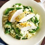 Citrus Feta Cheese Risotto with Spinach