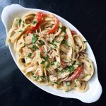 Pasta with a Creamy Low-Fat Sauce